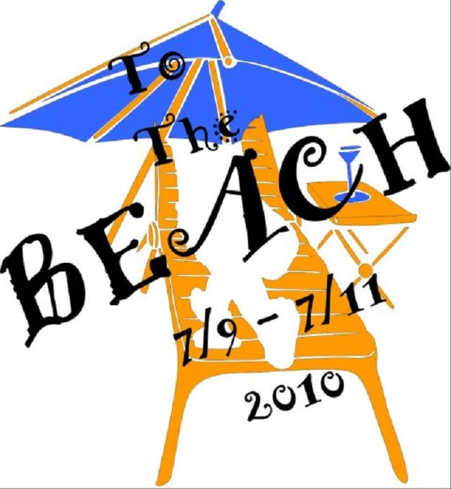 Beach, Event, Umbrella,Beach 2010,clipart,lineart,line art,t-shirt,t-shrits,tee shrits,designs,silk,screen,teeshirts, screen-printing,embroidery,logo,mascot,,,Hendersonville,NC,28739